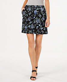 Karen Scott Floral-Print Skort, Created for Macy's