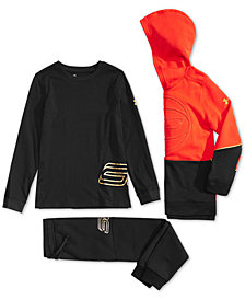 Under Armour Big Boys SC30 MVP Hoodie, T-Shirt & Pants