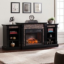 Wyndcliffe Fireplace with Bookcase, Quick Ship
