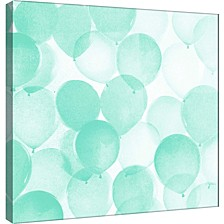Balloons In Mint A Decorative Canvas Wall Art
