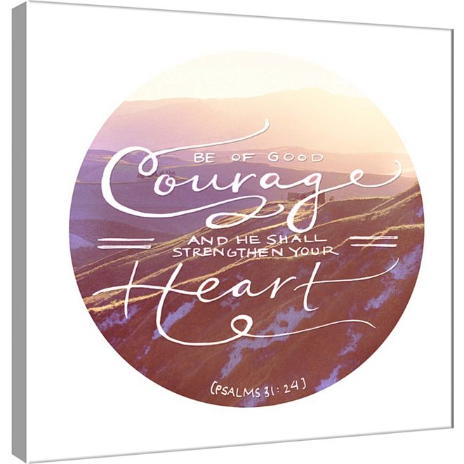 PTM Images Of Good Courage Decorative Canvas Wall Art