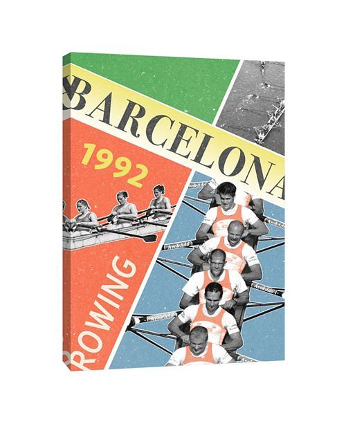 PTM Images Rowing 1992 Decorative Canvas Wall Art