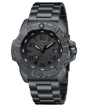 Men's 3252.bo Navy Seal Black-Out Stainless Bracelet Watch