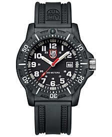 Men's 8895 Black OPS Red Accent Dial Rubber Strap Watch