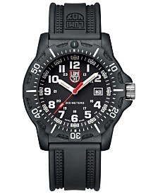 Luminox Men's 8895 Black OPS Red Accent Dial Rubber Strap Watch