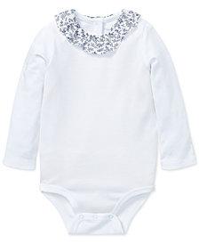 Polo Ralph Lauren Baby Girls Ruffled Cotton Bodysuit