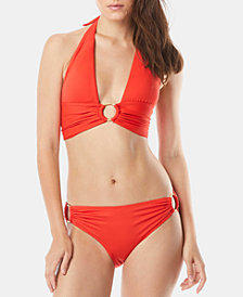 Carmen Marc Valvo Halter Bikini Top & Side-Ring Bottoms
