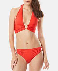 Carmen Marc Valvo Halter Bikini Top & Side-Ring Bottoms