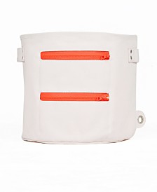 Mimish Large Canvas Storage Bin with Zipper Pocket