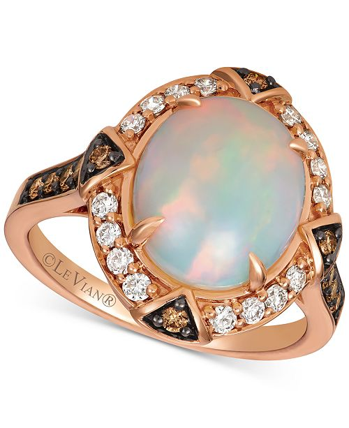Le Vian Opal (2-1/5 ct. t.w.) & Diamond (1/2 ct. t.w.) Ring in 14k Rose Gold