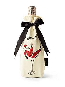 Kate Spade New York Holiday Wine Tote, Tipsy Santa