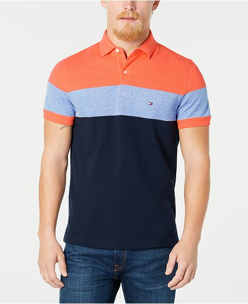 Dylan Men's Custom Fit Striped Polo, Created for Macy's
