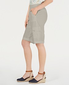 Style & Co Petite Comfort-Waist Bermuda Shorts, Created by Macy's