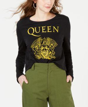 BRAVADO Juniors' Queen Cotton Graphic-Print T-Shirt in Black