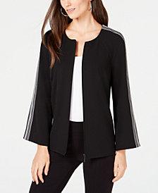 Alfani Striped-Sleeve Jacket, Created for Macy's