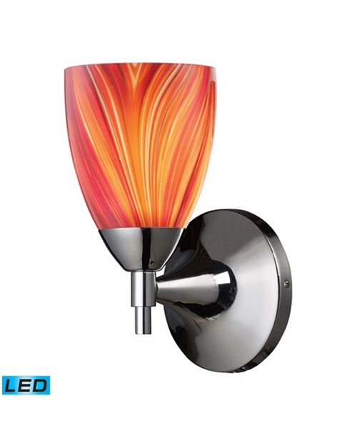 ELK Lighting Celina 1-Light Sconce in Polished Chrome and Multi Glass - LED Offering Up To 800 Lumens (60 Watt Equivalent)