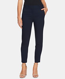 CeCe Stretch Twill Straight-Leg Pants
