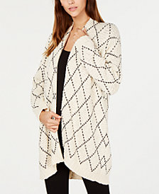 Eileen Fisher Organic Cotton Embroidered Kimono Cardigan, Regular and Petite