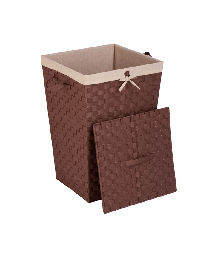 Honey Can Do - Decorative Woven Hamper with Lid