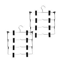 2-Pk. 4-tier Fold Up Skirt Hanger