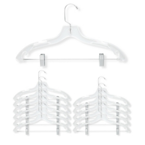 Honey Can Do 12-Pc. Crystal Suit Hangers with Clips