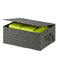 Speckled Storage Box with Hinged Lid