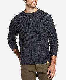 Weatherproof Vintage Men's Mixed-Stitch Crew-Neck Sweater
