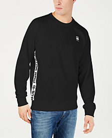 G-Star RAW Mens Logo Taping Crewneck Sweatshirt, Created for Macy's