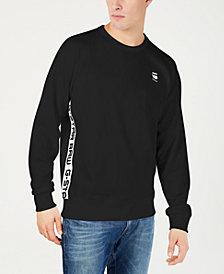 G-Star RAW Mens Logo Taping Crewneck Sweatshirt, Created for Macy's