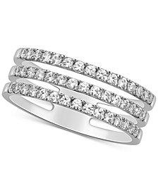 Diamond (1/2 ct. t.w.) 3-Row Ring Set in 14k White Gold