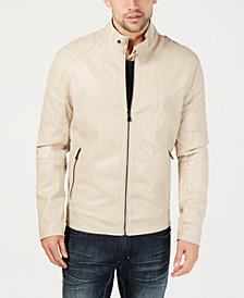 I.N.C. Men's Faux Leather Moto Jacket, Created for Macy's