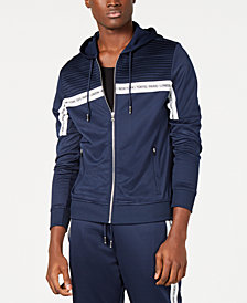I.N.C. Men's Zip-Front Logo-Tape Hoodie, Created for Macy's