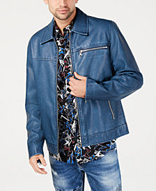 I.N.C. Men's Distressed Faux Leather Jacket, Created for Macy's
