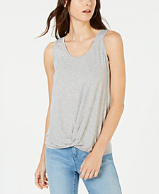 I.N.C. Twist-Front Tank Top, Created for Macy's
