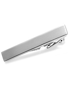 Tie Clip, Short Brushed Nickel with Gift Box