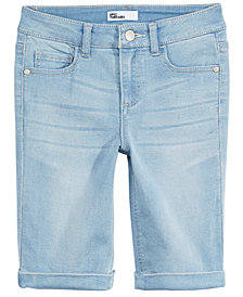 Epic Threads Big Girls Denim Bermuda Shorts, Created for Macy's