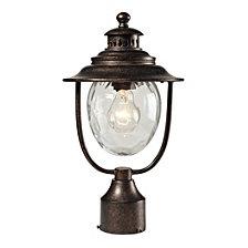 1 Light Post Mount In Regal Bronze