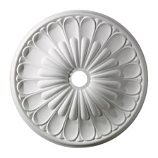 "Melon Reed Medallion 32"" In White Finish"
