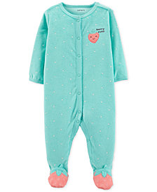 Carter's Baby Girls Strawberry Footed Pajamas
