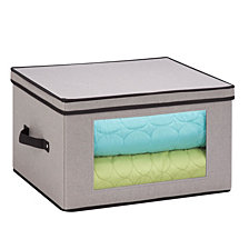 Honey Can Do Tall Window Storage Chest, Gray