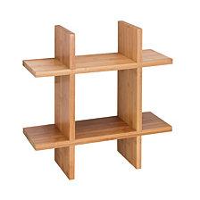 Honey Can Do Bamboo Grid Shaped Wall Shelf