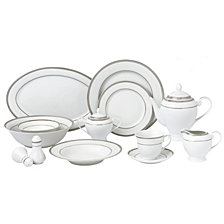 Lorren Home Trends Ashley 57-PC Dinnerware Set, Service for 8