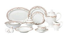 Beauty 57-PC Dinnerware Set, Service for 8