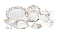 Lorren Home Trends Beauty 57-PC Dinnerware Set, Service for 8