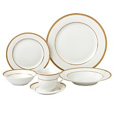 Lorren Home Trends Josephine 24-Pc. Dinnerware Set, Service for 4