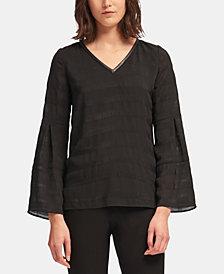 DKNY Bell-Sleeve V-Neck Top, Created for Macy's