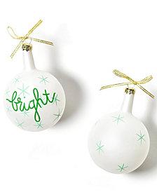 Coton Colors Christmas Spirits Bright Vintage Glass Ornament