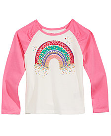Epic Threads Little Girls Rainbow Raglan T-Shirt, Created for Macy's
