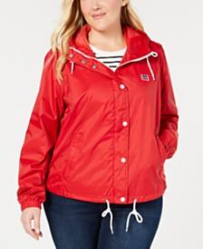 Levi's® Trendy Plus Size Active Rain Slicker Jacket