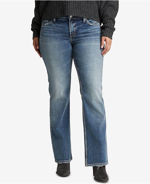 cec9c458 Silver Jeans Co. Plus Size Suki Curvy-Fit Bootcut Jeans & Reviews ...